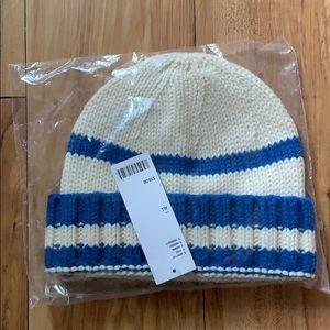 Urban Outfitters• Blue & White Strip Knit Beanie